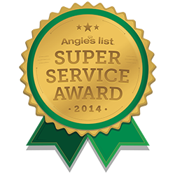 Angie's List Super Service Award 2014 for chiropractic huntsville al