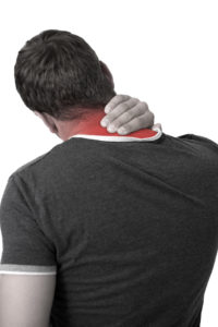 Young Man with neck pain