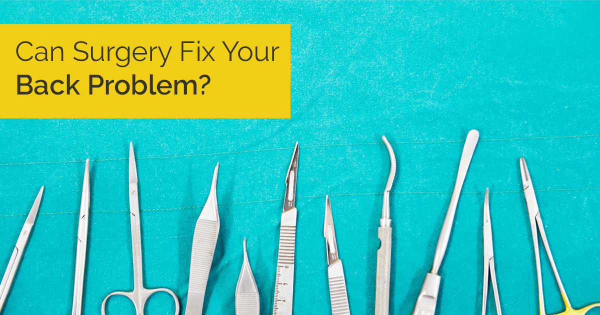 Can surgery fix your back problem