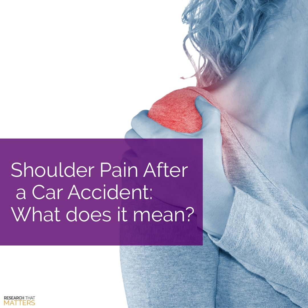 shoulder pain after car accident
